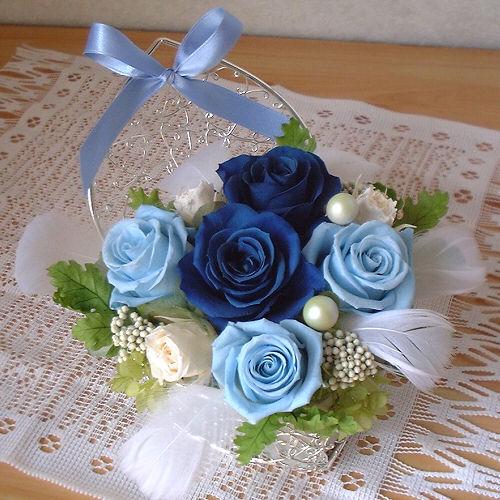 オーダーメイド事例07:サムシングブルーの結婚祝い 01