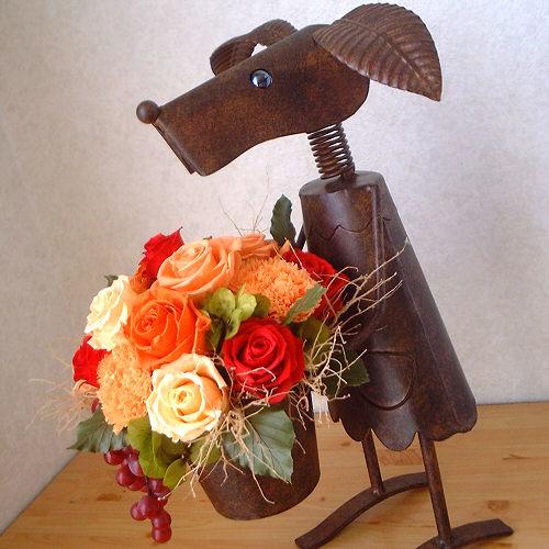 オーダーメイド事例11:イタリア料理店へ贈る開店2周年のお祝い花 02