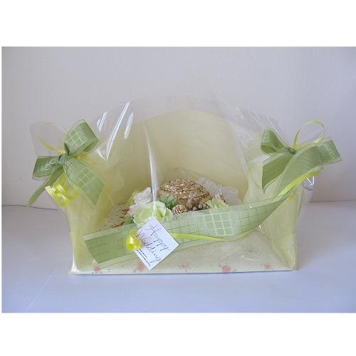 結婚祝い(麦わら帽子の花飾り)