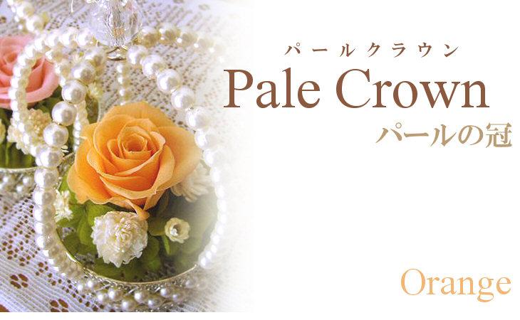 パールクラウン(オレンジ)【プリザーブドフラワー】