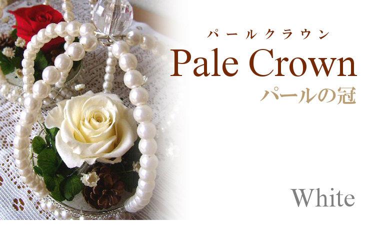 パールクラウン(ホワイト)【プリザーブドフラワー】