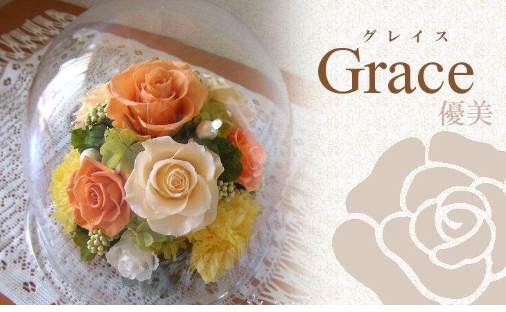 グレイス(オレンジ)【プリザーブドフラワー】