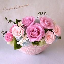 敬老の日プリザーブドフラワー ベルセゾン(ピンク)