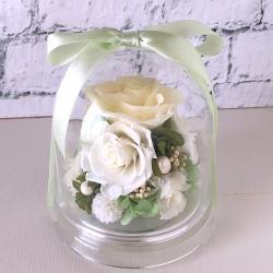 お供え、お悔やみ花のプリザーブドフラワー「チャーム(ホワイト)」