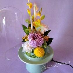 お供え、お悔やみ花のプリザーブドフラワー「花蛍(リラ)」