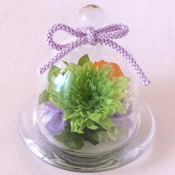お供え、お悔やみ花のプリザーブドフラワー まめ菊(グリーン)