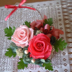 ハートの小箱(ピンク)