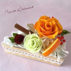 フラワーケーキ<ローズケーキ(オレンジ)>
