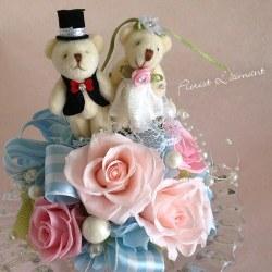 結婚祝いのプリザーブドフラワー 人気2位  スウィートウエディング(ピンク)