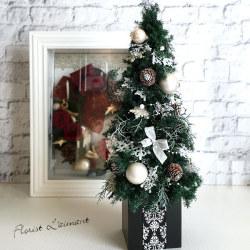 クリスマスツリーテーブルツリー(スノーグリーン)