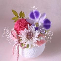 お供え、お悔やみ花のプリザーブドフラワー「てまり(ピンク)」
