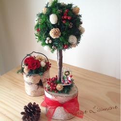 クリスマスツリー クリスマストピアリー(レッド)