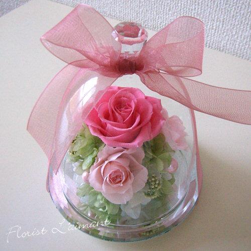 友達への誕生日祝いのプリザーブドフラワー 人気3位  プリズム(ピンク)
