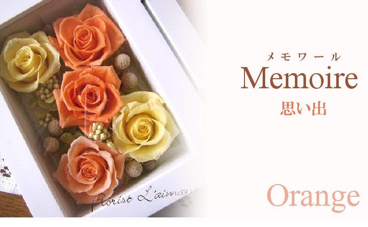 メモワール(オレンジ)【プリザーブドフラワー】