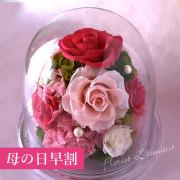母の日のプリザーブドフラワー「グレイス」(ピンク)