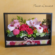 母の日のプリザーブドフラワー「花宴」(ピンク)