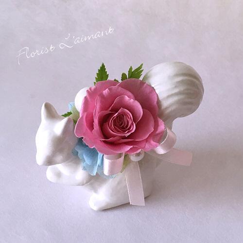 プチクー(ピンク)【プリザーブドフラワー】