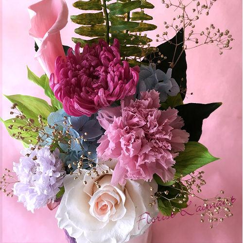 紫乃(ピンク)【プリザーブドフラワー】