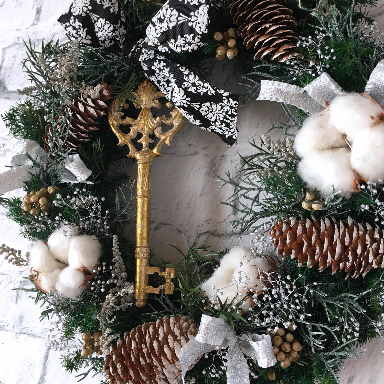 ホワイトクリスマス・クリスマスリース02