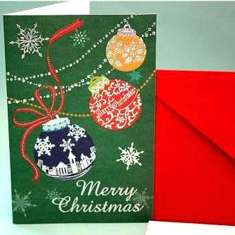 クリスマスカード(カラーボール)